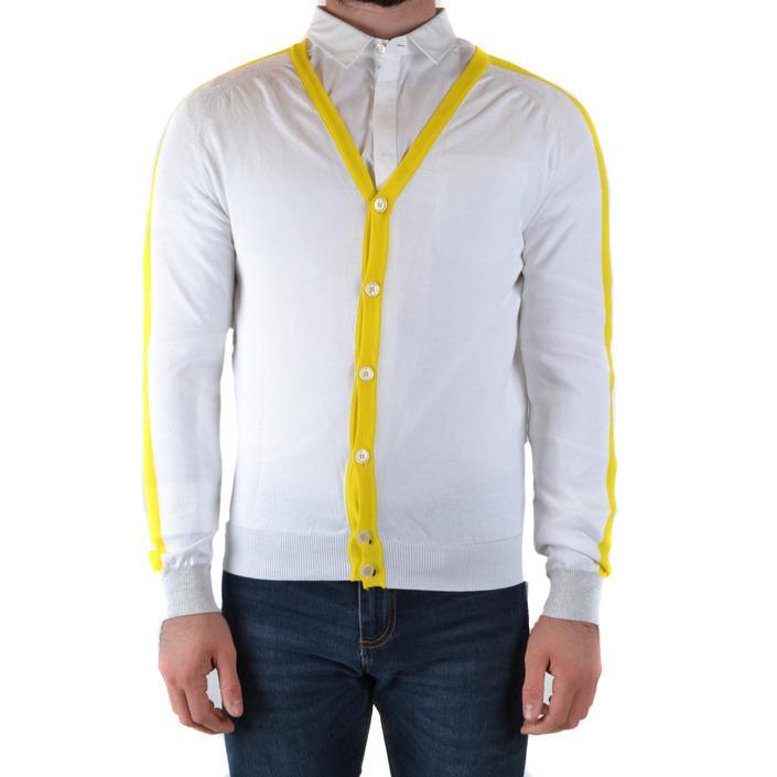 Daniele Alessandrini Men's Cardigan White 170413 - white 50