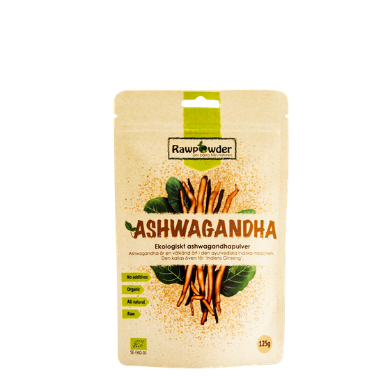 Ekologiskt Ashwagandhapulver, 125 g