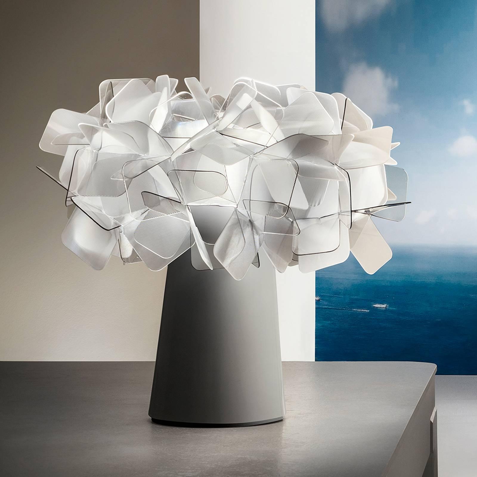 Slamp Clizia -LED-pöytälamppu, akku himmennys fumé