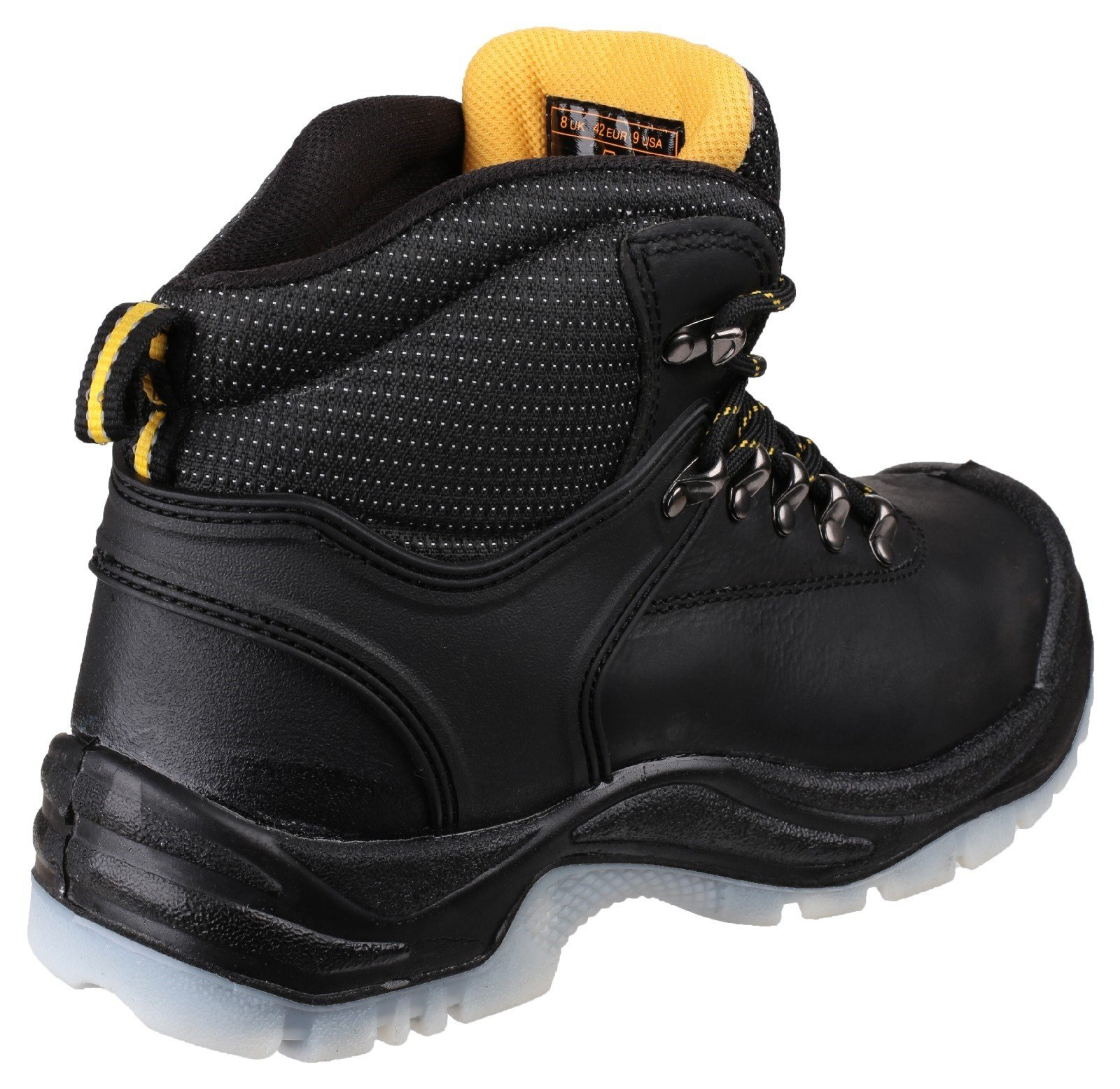 Amblers Unisex Safety Antistatic Lace Up Hiker Boot Black 15018 - Black 7