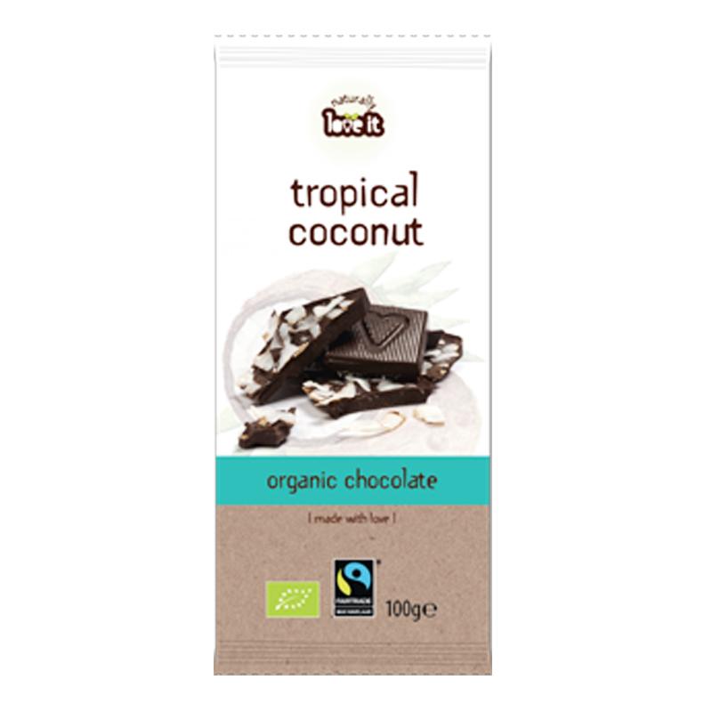 "Eko Mörk Choklad ""Tropical Coconut"" 100g - 60% rabatt"