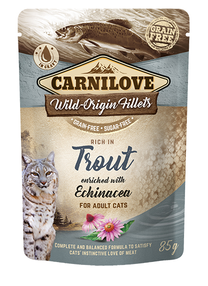 Carnilove Portionspåse Trout with Echinacea