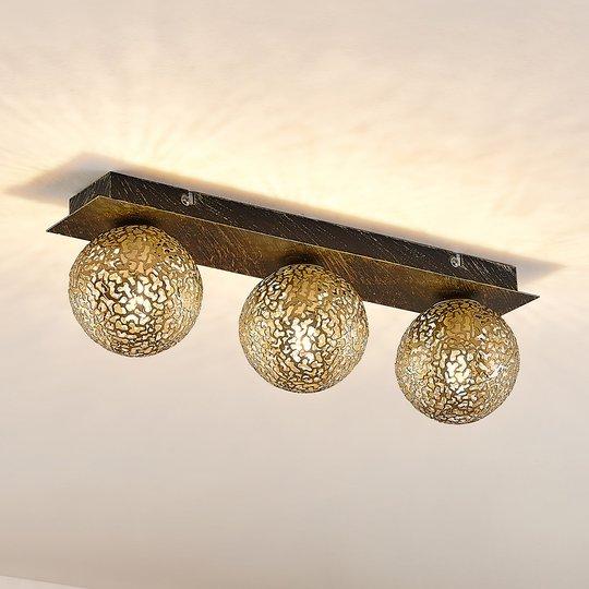 Lucande Evory -kattovalaisin kulmikas 3-lamppuinen