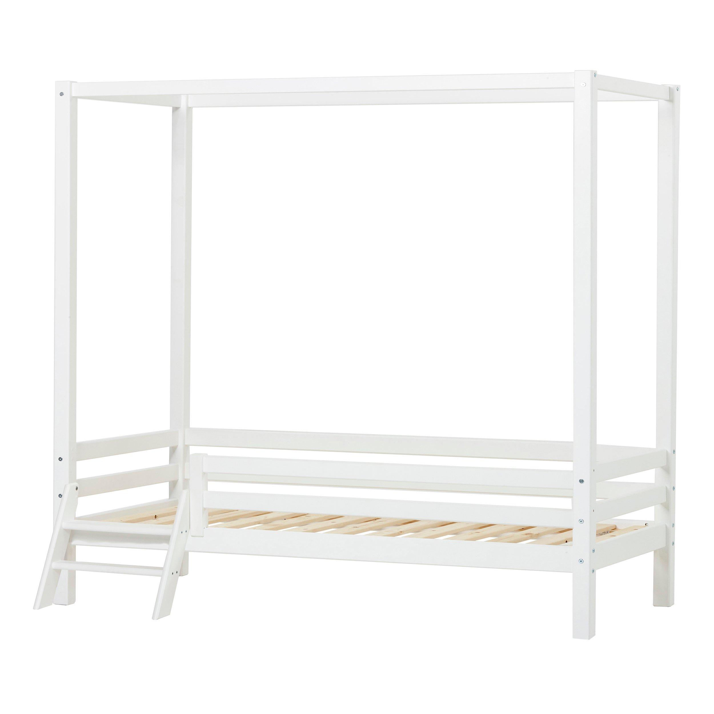Hoppekids - BASIC Canopy bed w. Ladder 90 x 200 cm- White