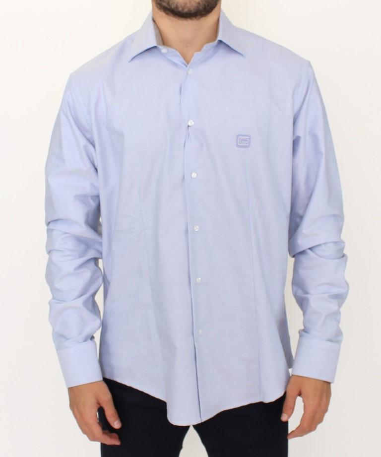 Cavalli Men's Shirt Blue SIG10099 - XL