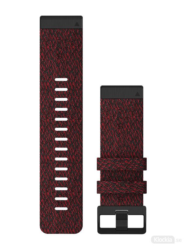 Garmin Armband 26mm QuickFit Röd melerad nylon 010-12864-06