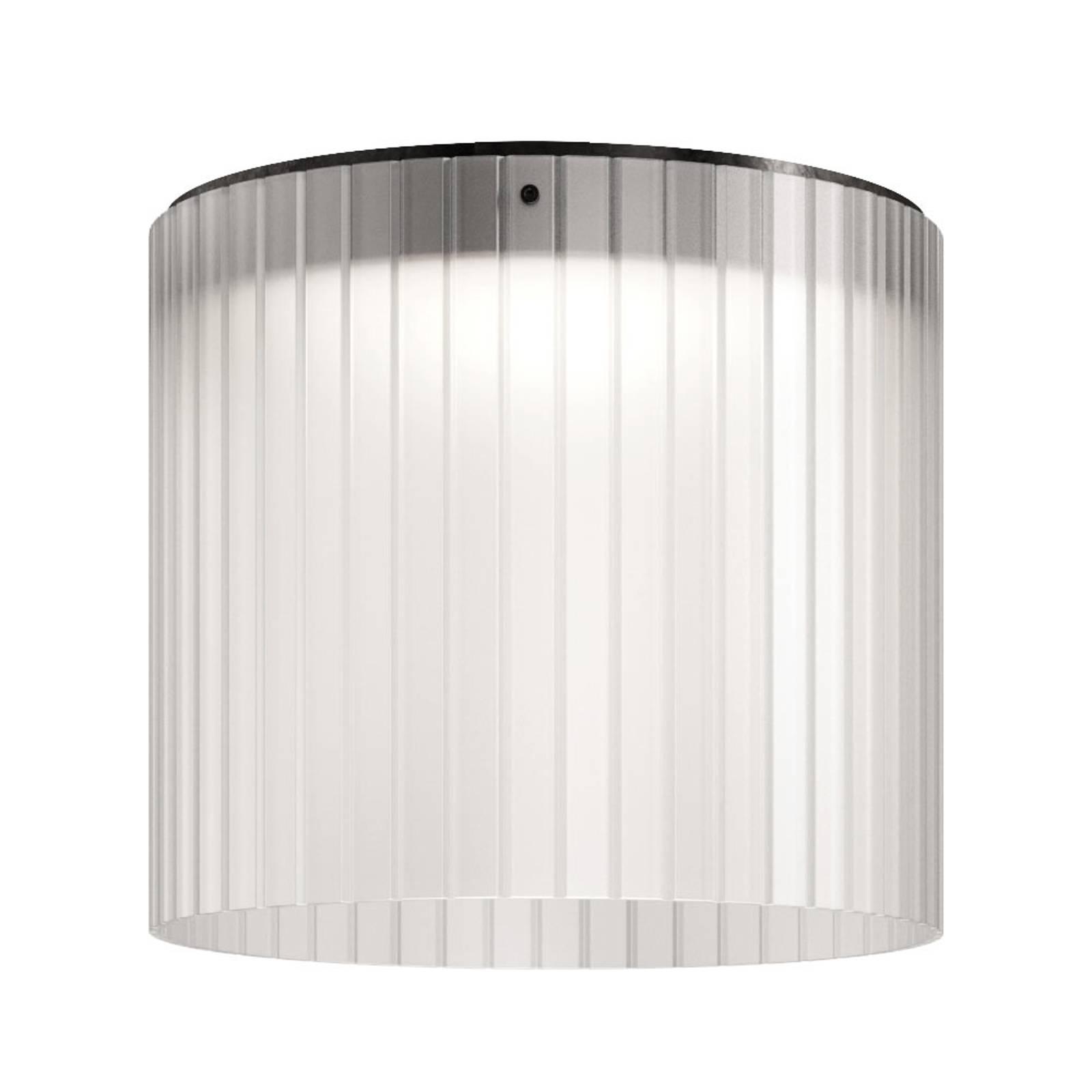 Kundalini Giass -LED-kattovalaisin Ø40cm valkoinen