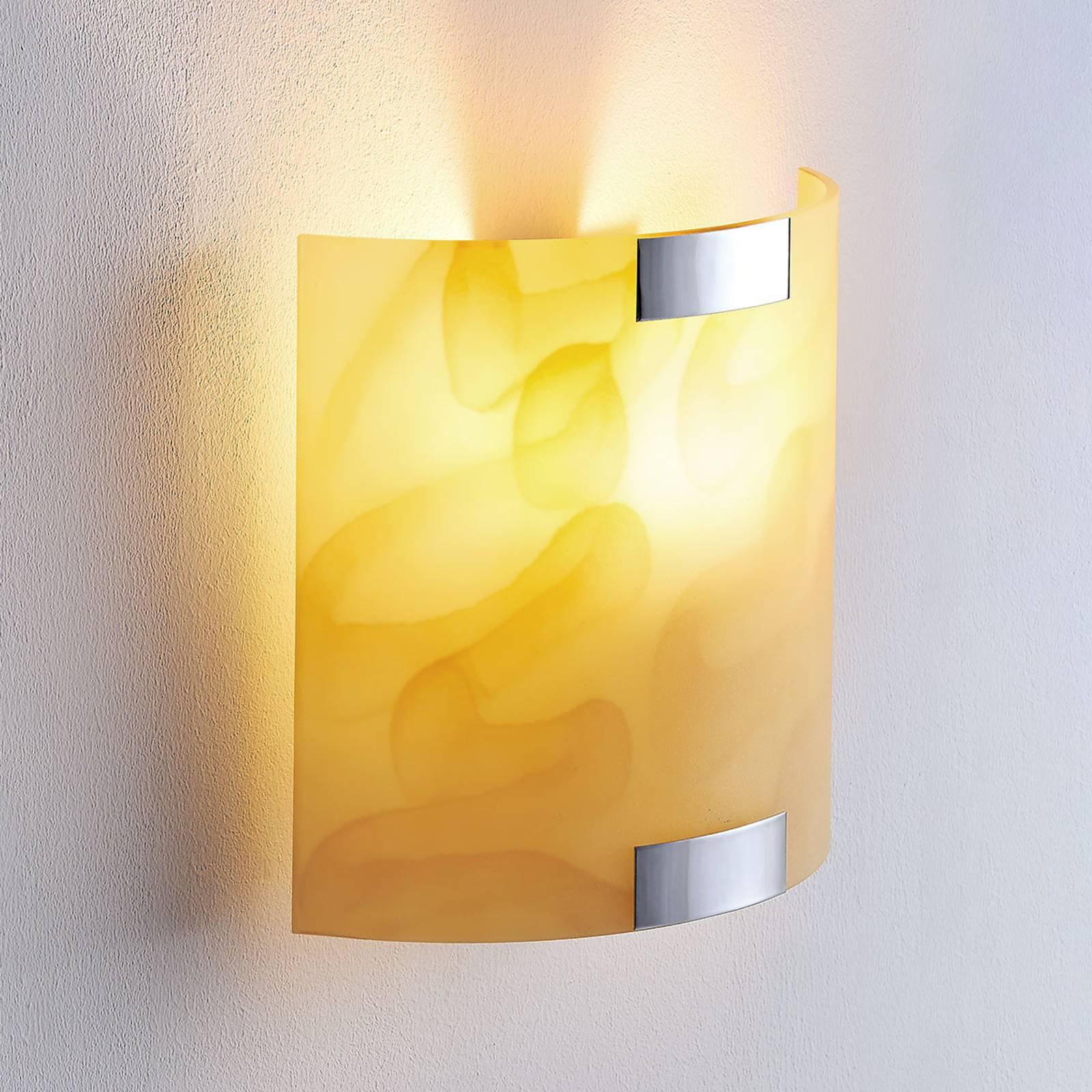 Quentin - LED-vegglampe, ravgul