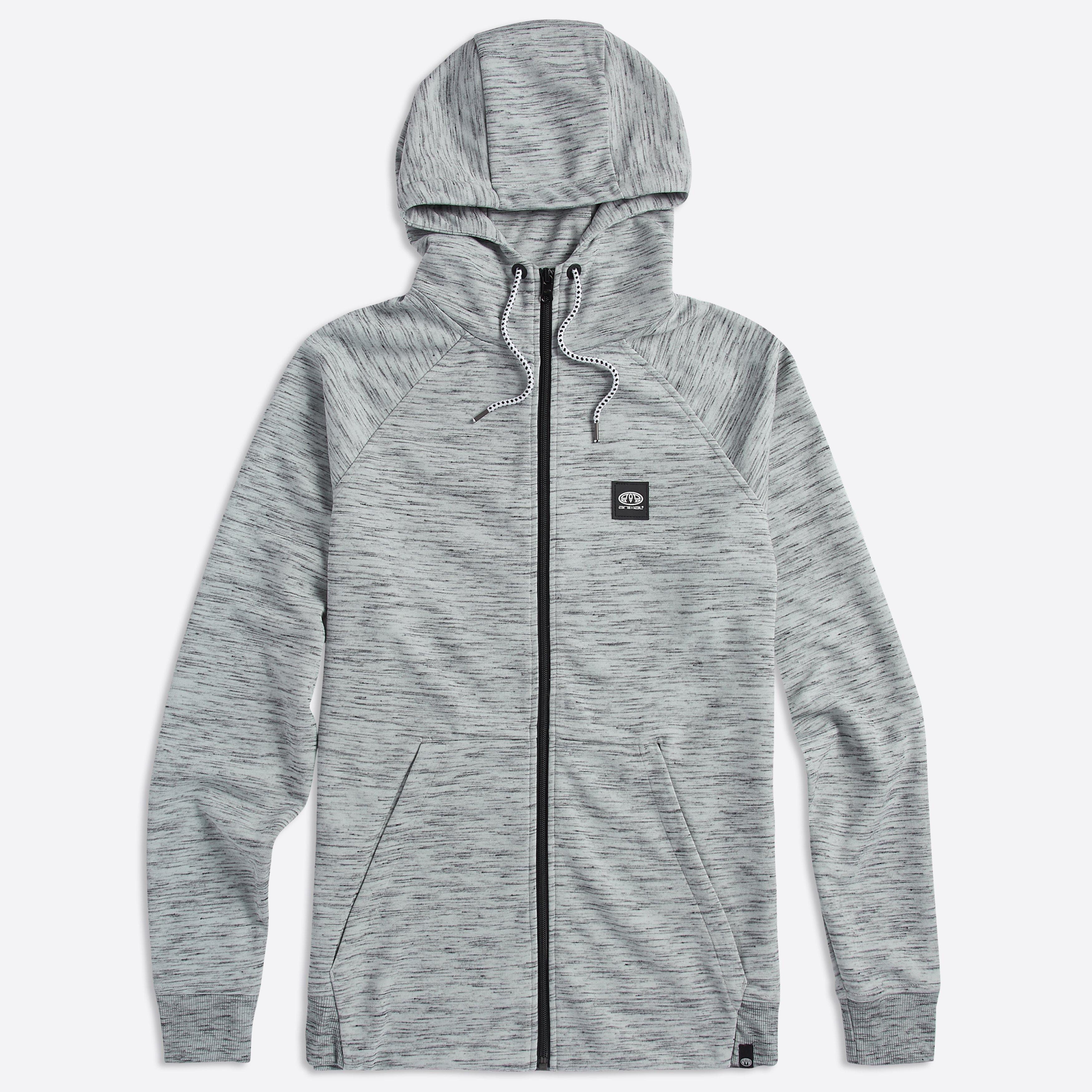 Animal Clothing Men's Venture Zip Jacket Various Colours 5057652285496 - S Grey