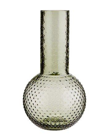 Vase med prikker Ø 11,5 cm - Grønn