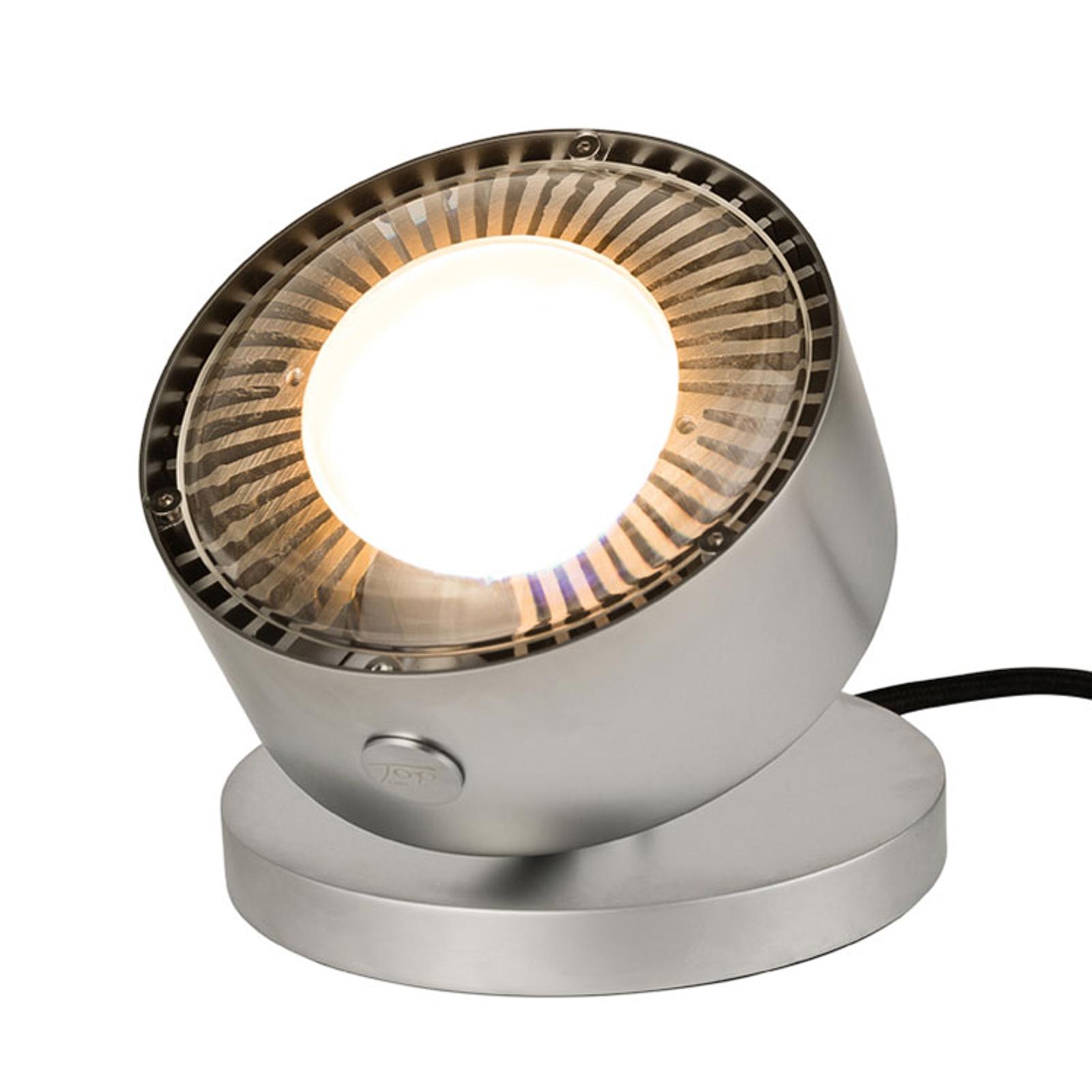 LED-pöytäkohdevalo Puk Maxx Spot, matta kromi