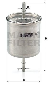 Polttoainesuodatin MANN-FILTER WK 822/2