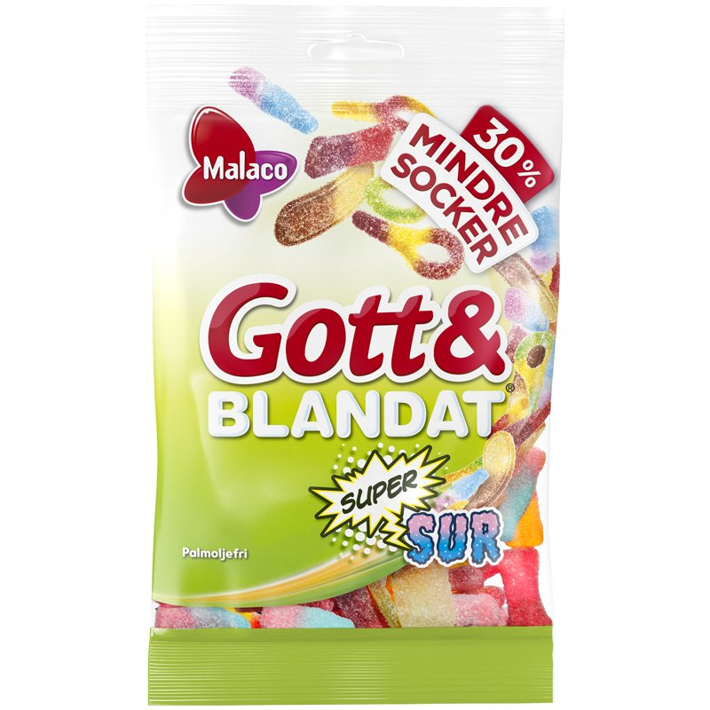 Gott & Blandat Supersur Mindre Socker - 33% rabatt