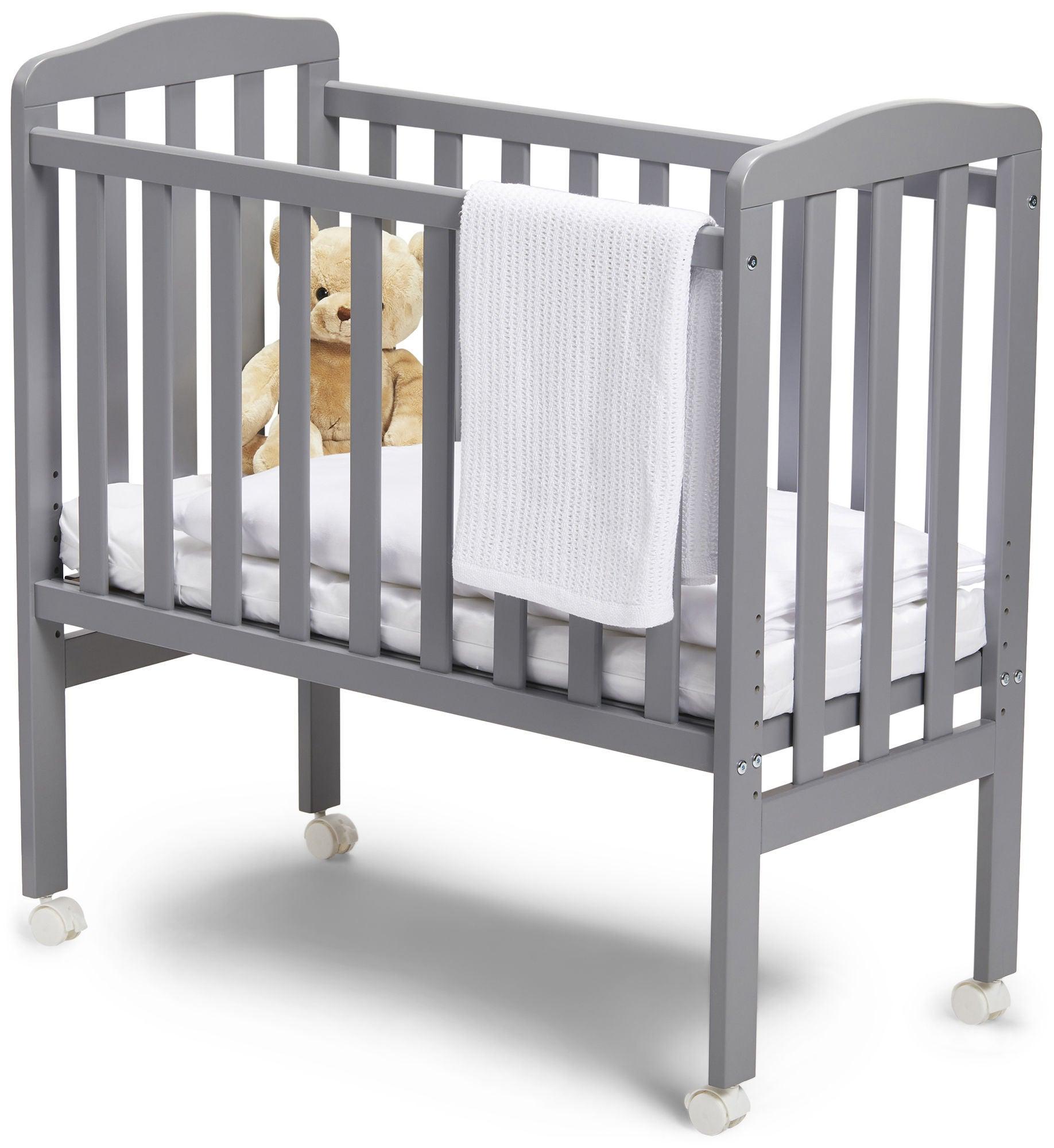 JLY Dream Bedside Crib, Harmaa