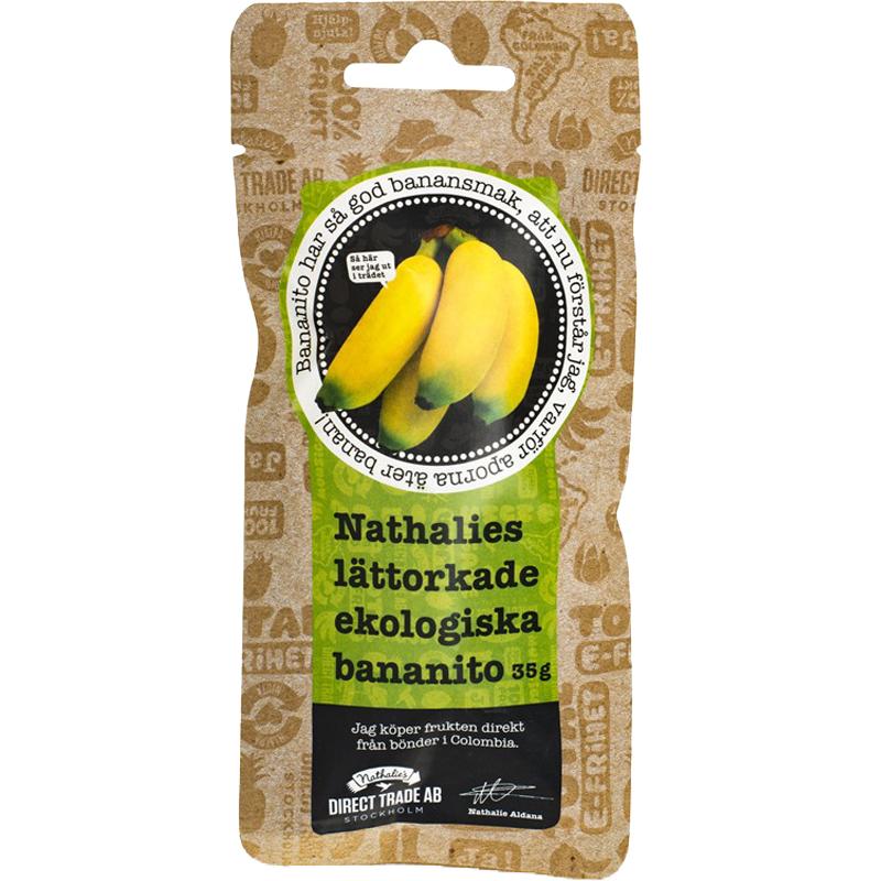 Luomu Kuivatut Banaanit 35g - 50% alennus