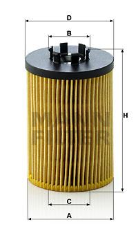 Öljynsuodatin MANN-FILTER HU 715/5 x