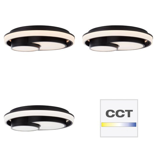 AEG Dwain LED-taklampe, dimbar, CCT, remote