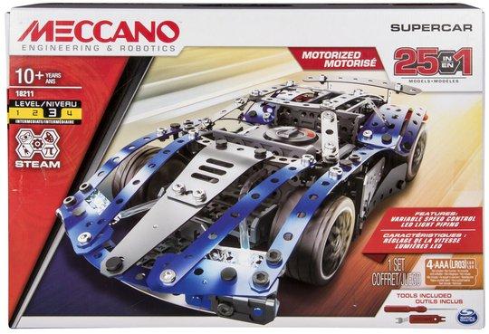 Meccano Byggesett Med Motor 25 Deler