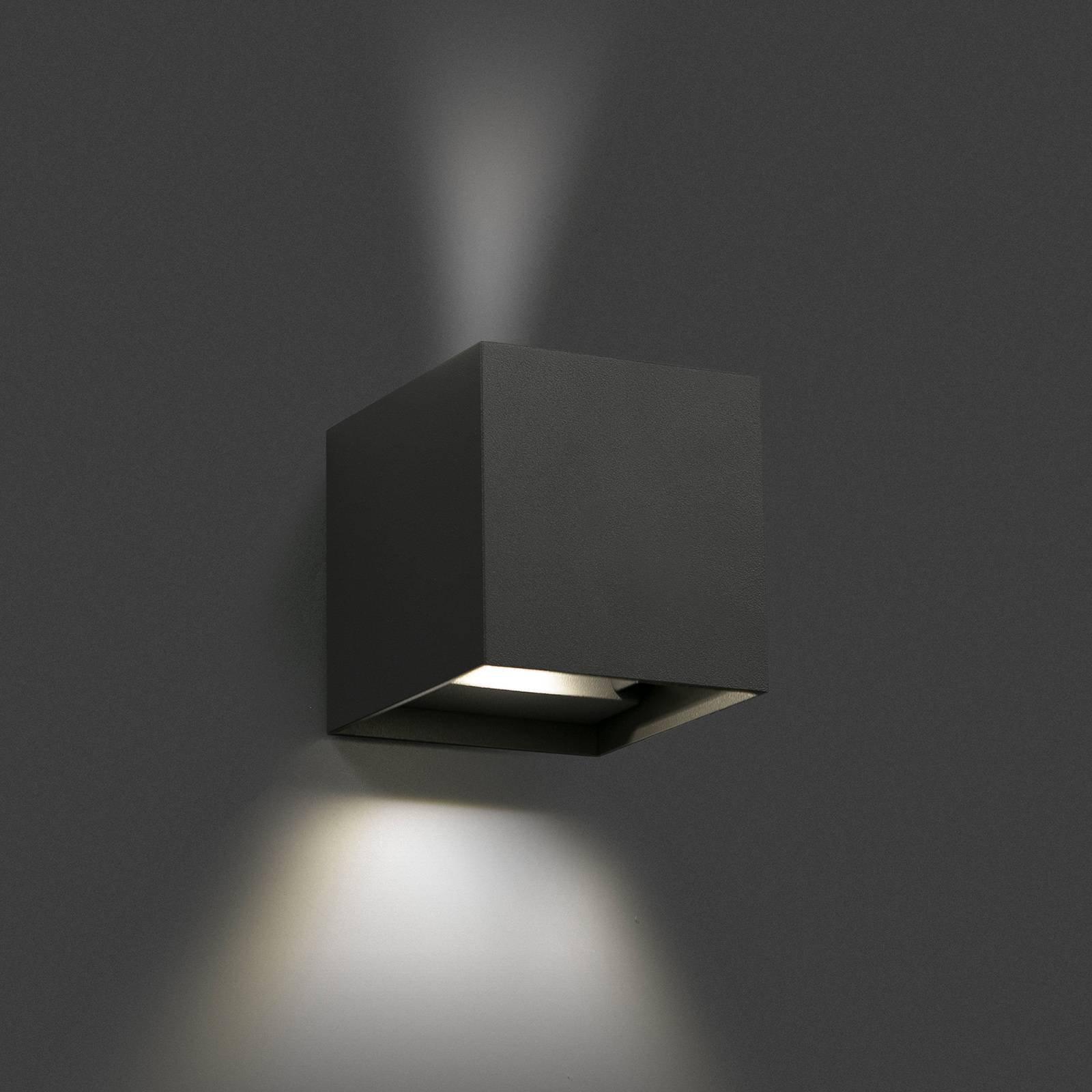 Utendørs LED-vegglampe Olan, mørkegrå