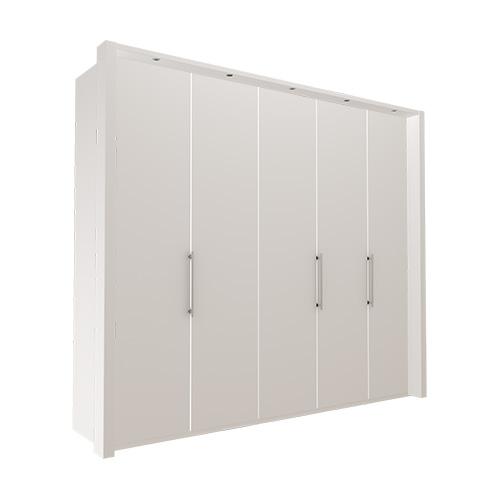 Garderobe Atlanta - Hvit 250 cm, 216 cm, Med ramme