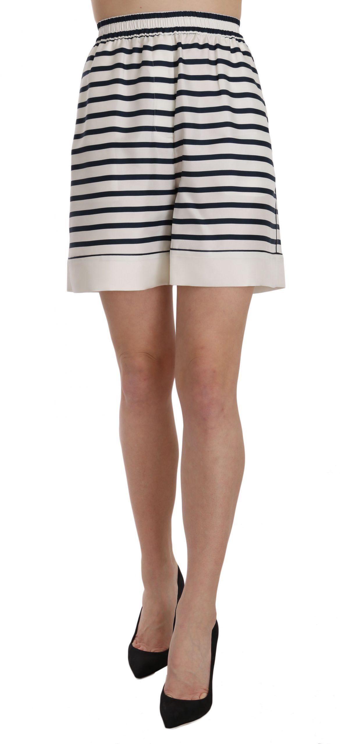 Dolce & Gabbana Women's Skirt Black/W hite SKI1205 - IT42 M