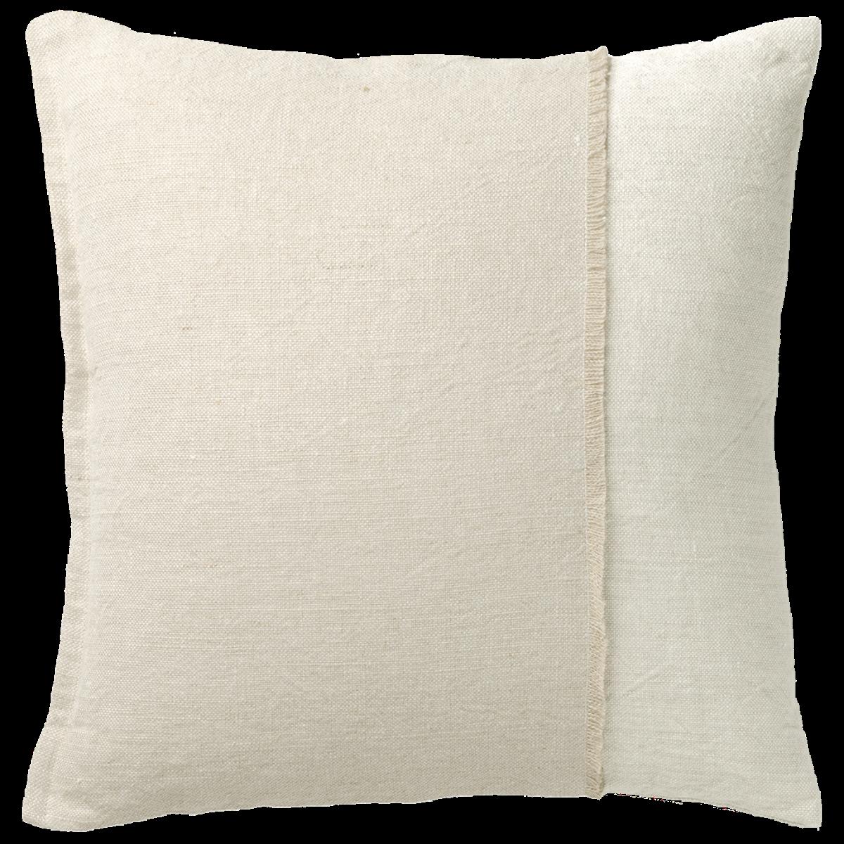 de Le Cuona | Haiku Panel Cushion With Fringe Detail Husk/Paper