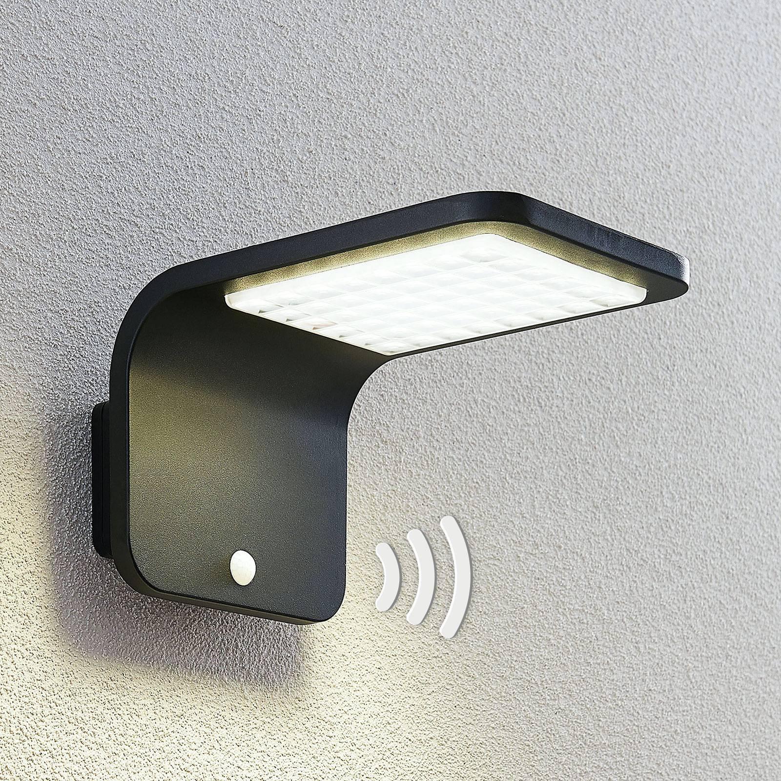 Lindby Koleno LED-solcelle-spot med sensor, IP54