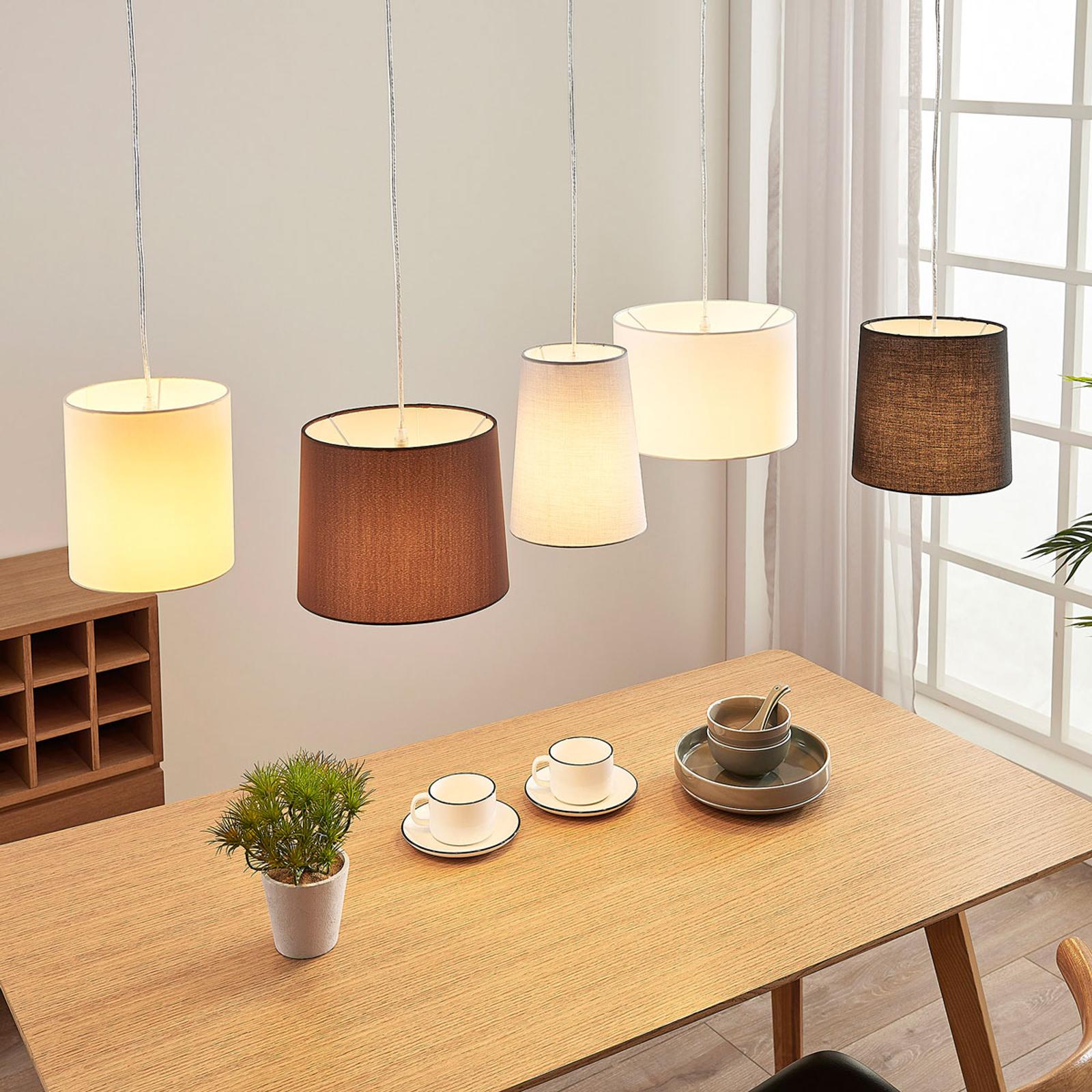 Tekstiiliriippuvalaisin Hermina, 5-lampp.