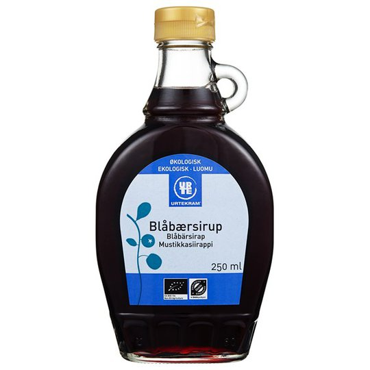 Urtekram Food Blåbärssirap, 250 ml