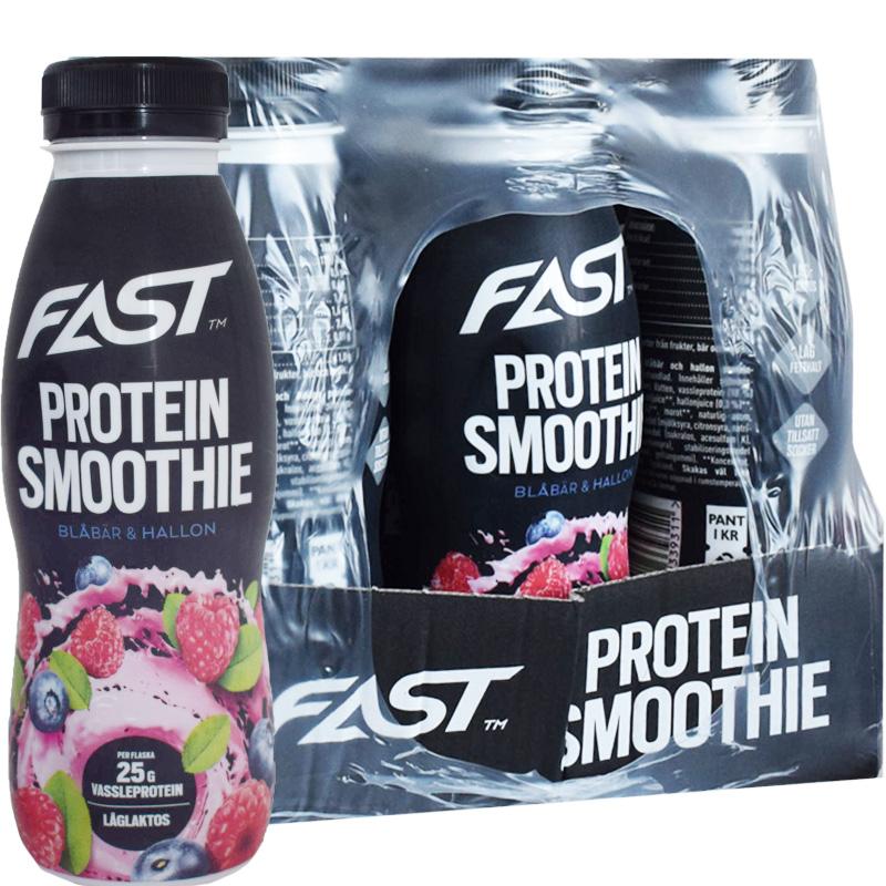 Proteinsmoothie Blåbär & Hallon 12-pack - 86% rabatt