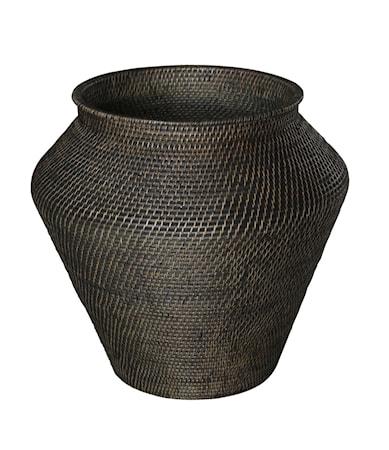 AMAZON snake basket L deep brown