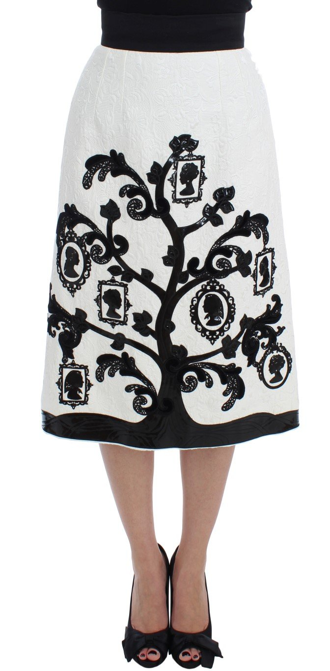 Dolce & Gabbana Women's Floral Brocade Family Tree Skirt Multicolor SIG17477 - IT40|S