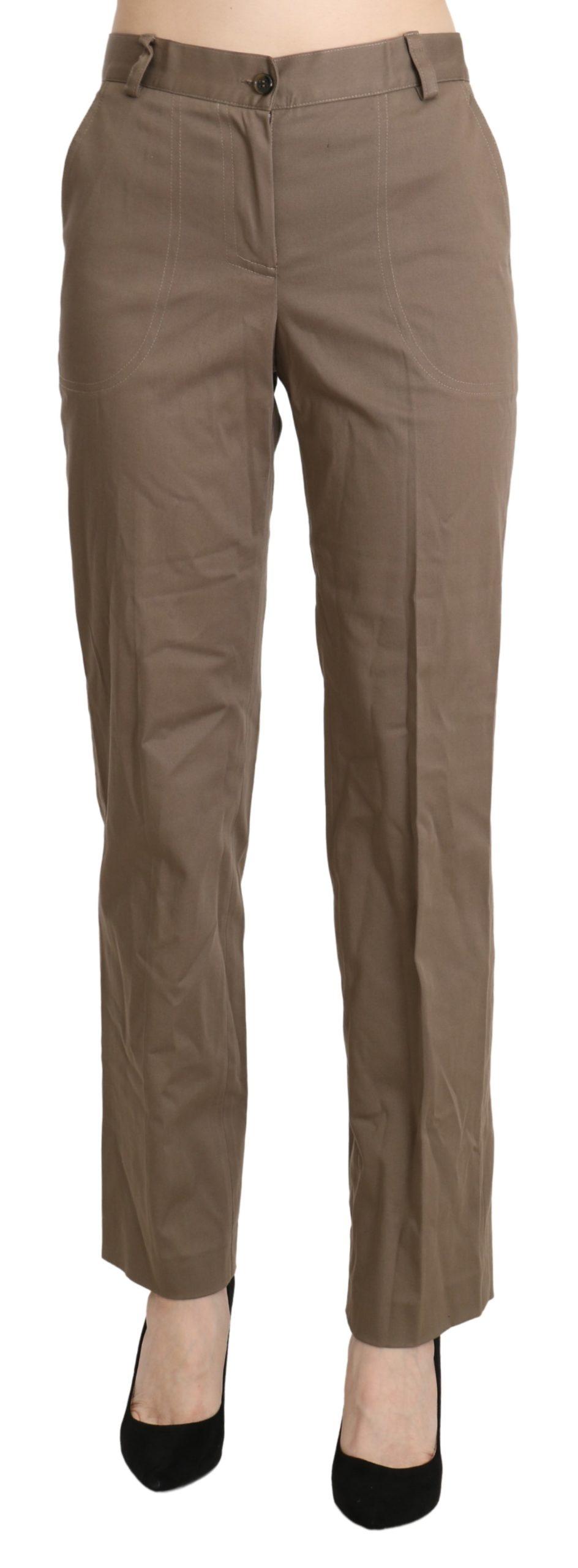 BENCIVENGA Women's High Waist Straight Trouser Brown PAN71342-42 - IT42 M
