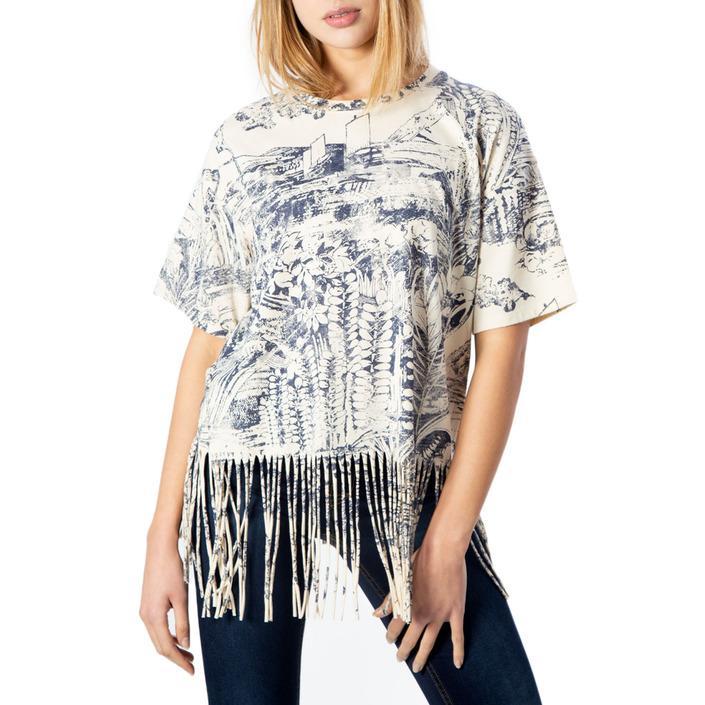 Desigual Women's T-Shirt Beige 170657 - beige XS