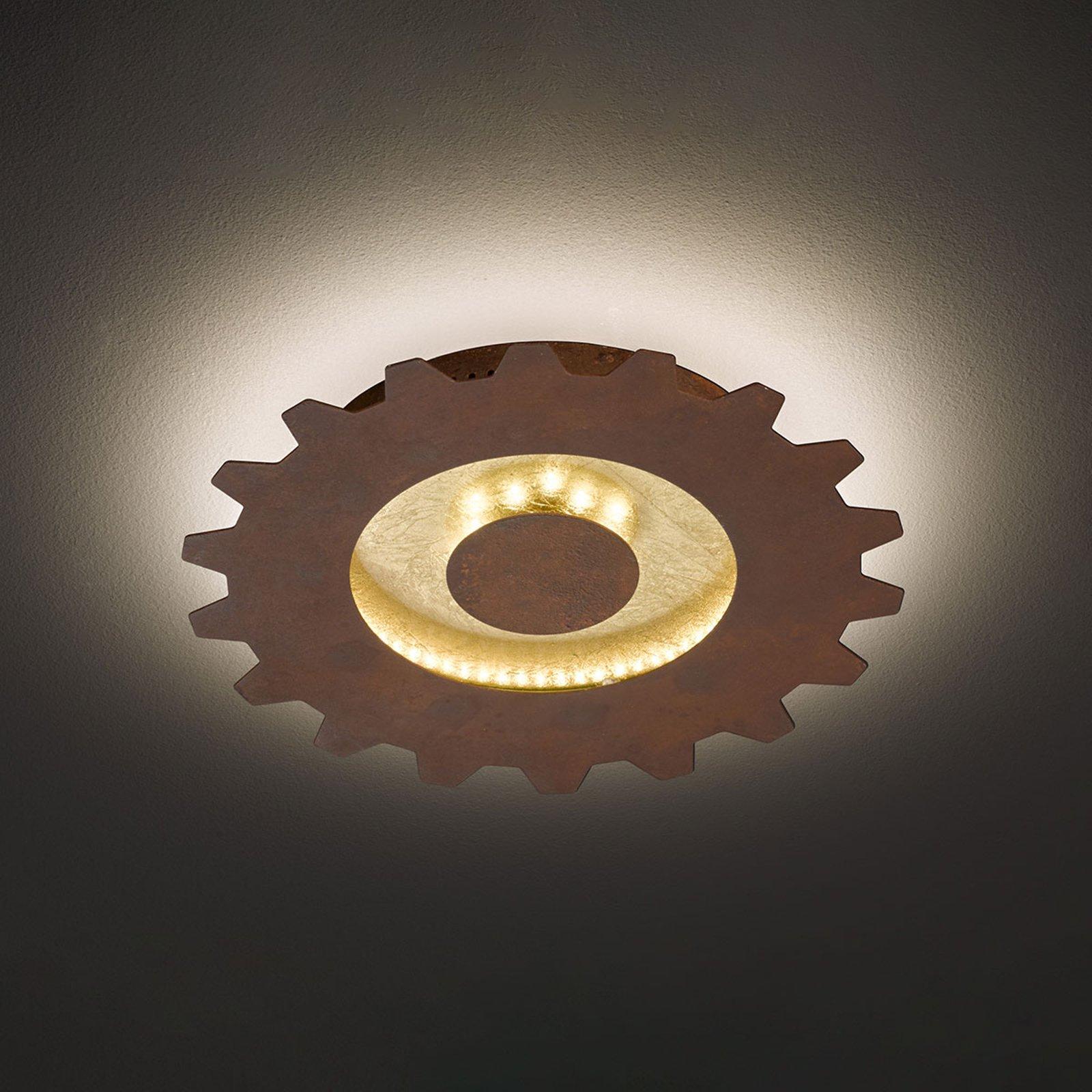 LED-taklampe Leif i tannhjulstil, Ø 30 cm