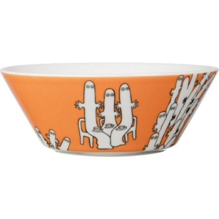 Mumin skål 15 cm Hattifnattarna orange