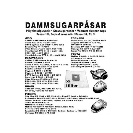 Champion Dammpåsar Electrolux 5st