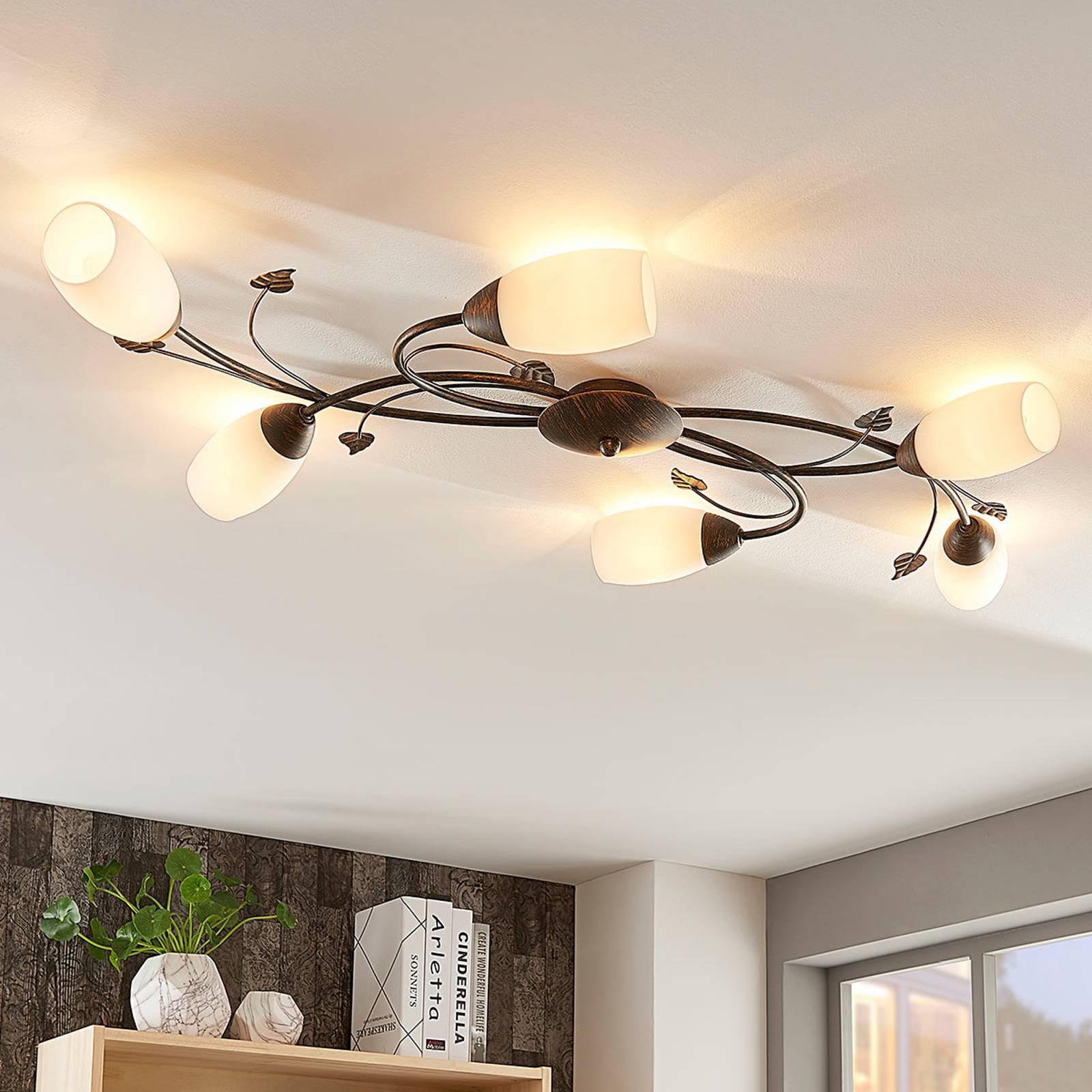 Romantisk LED-taklampe Stefania