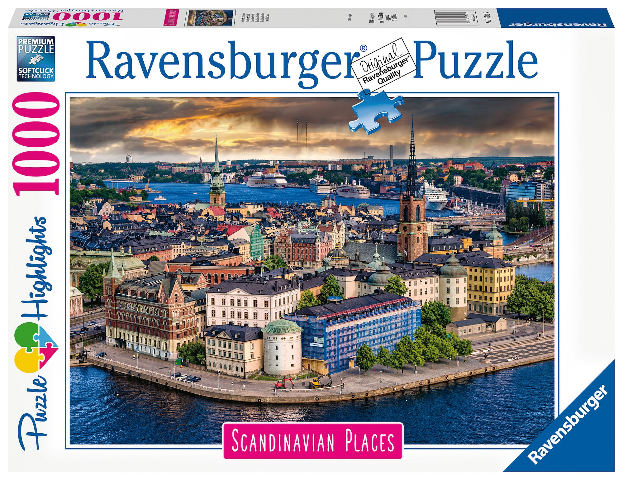 Ravensburger Pussel Skandinavien: Stockholm 1000 Bitar