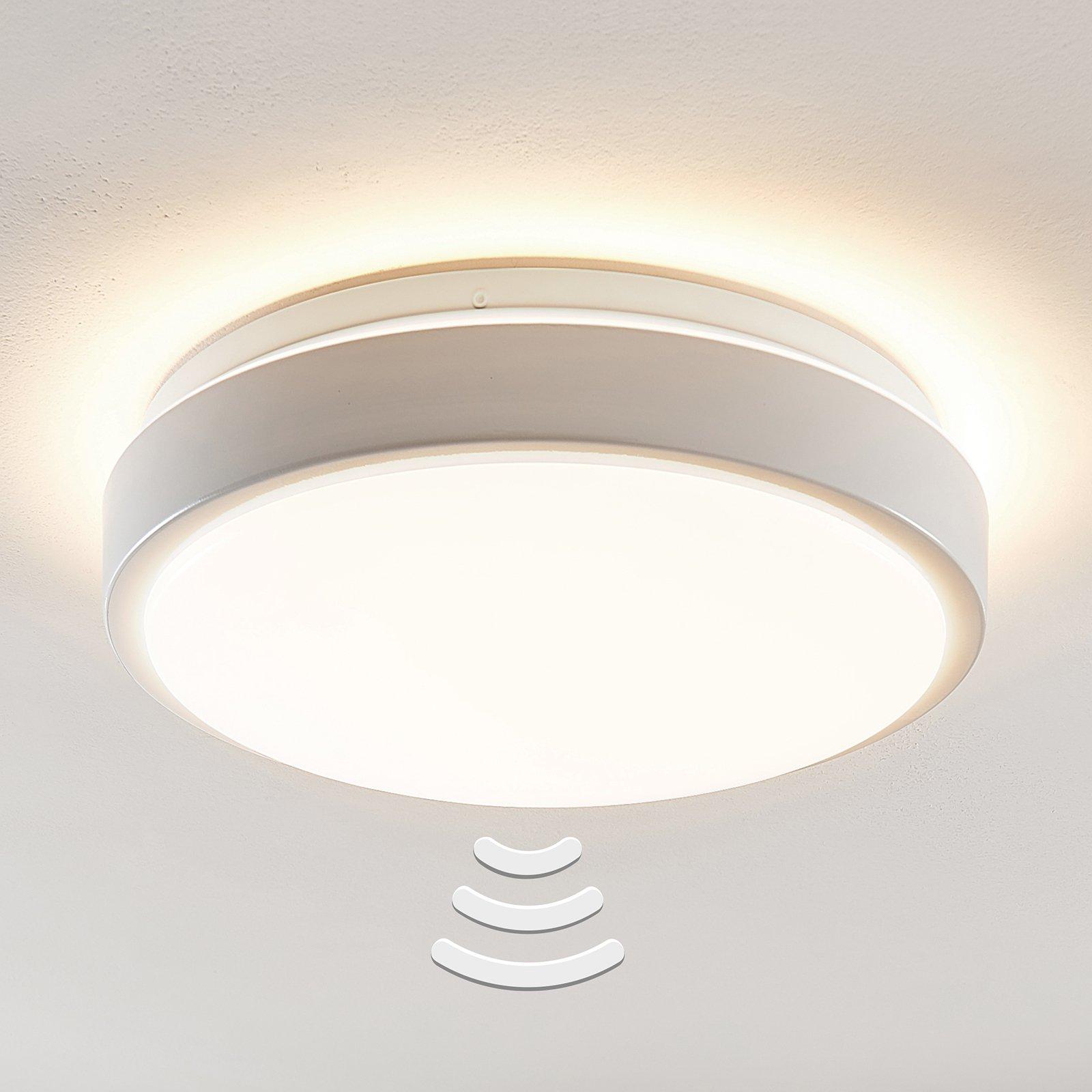 Lindby Camille LED-sensor-taklampe Ø33cm hvit