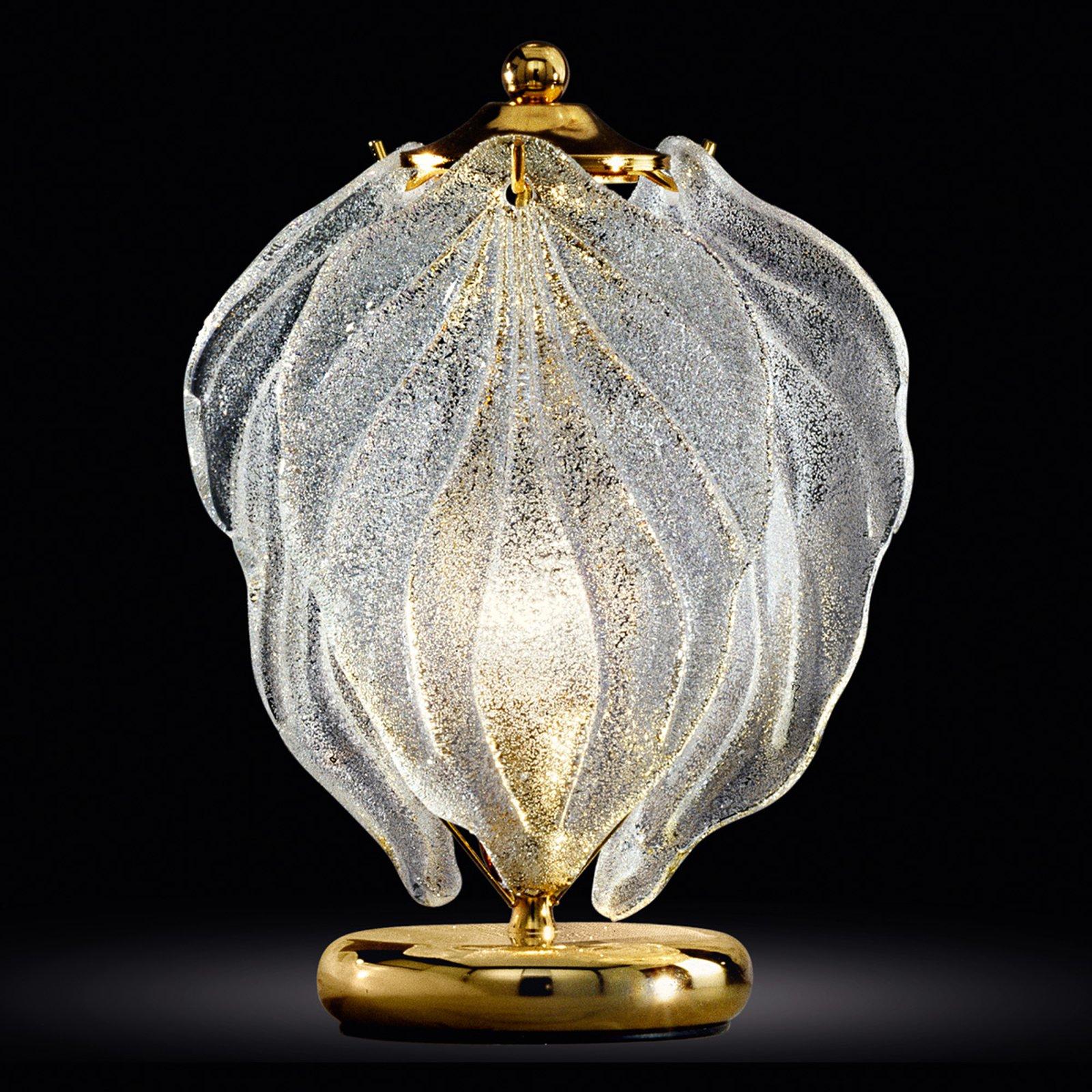 Glass-bordlampe Foglie av Murano-glass