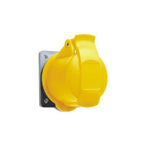 ABB 2CMA193145R1000 Seinäpistorasia 16 A, IP44 3-napainen, keltainen