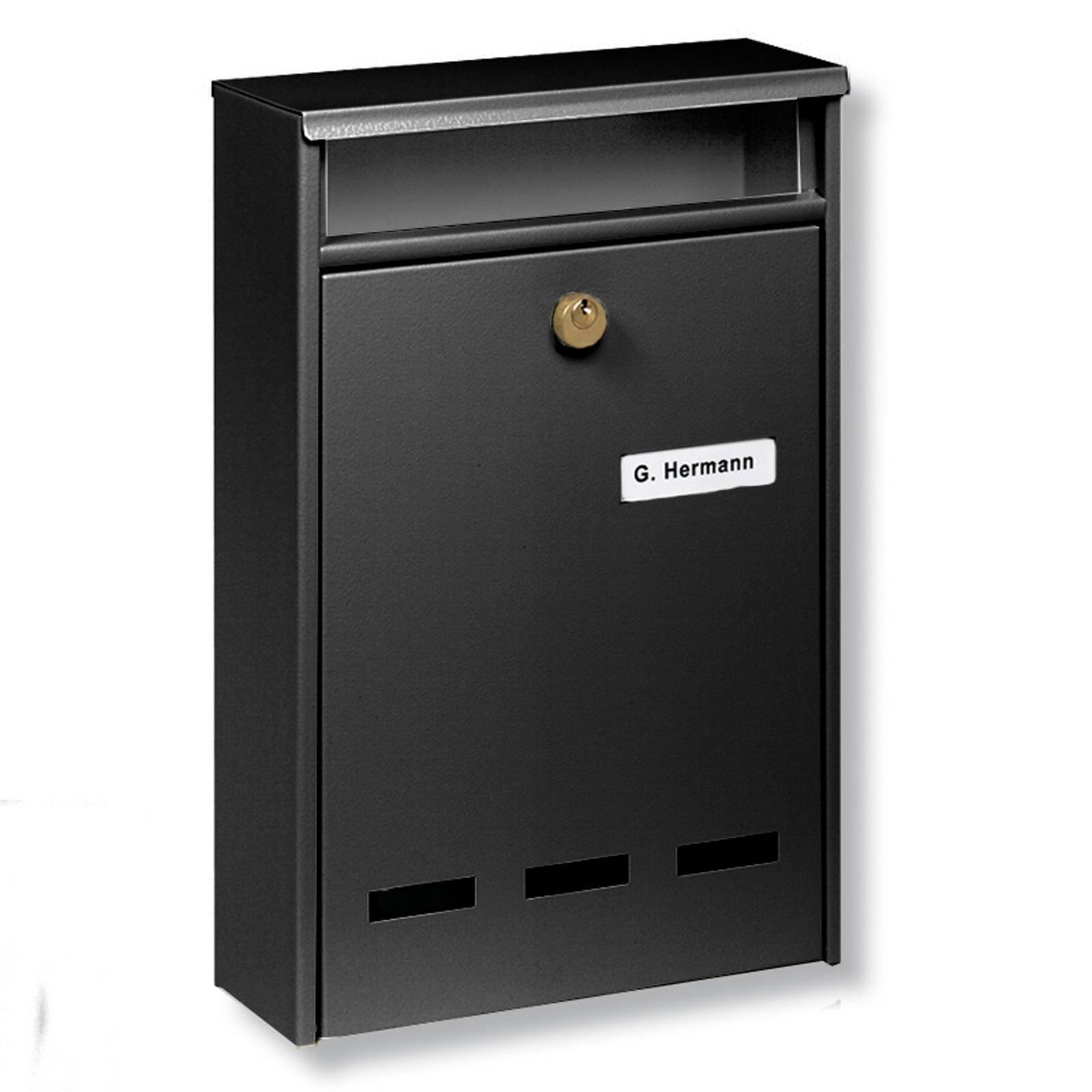 B5-standardin ryhmäpostilaatikko Wismar, musta