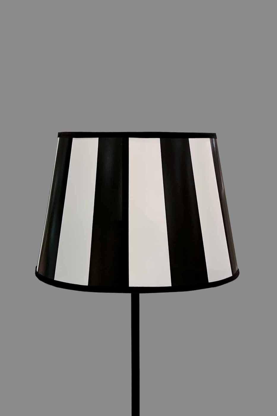 Lampskärm James oval 25cm randig