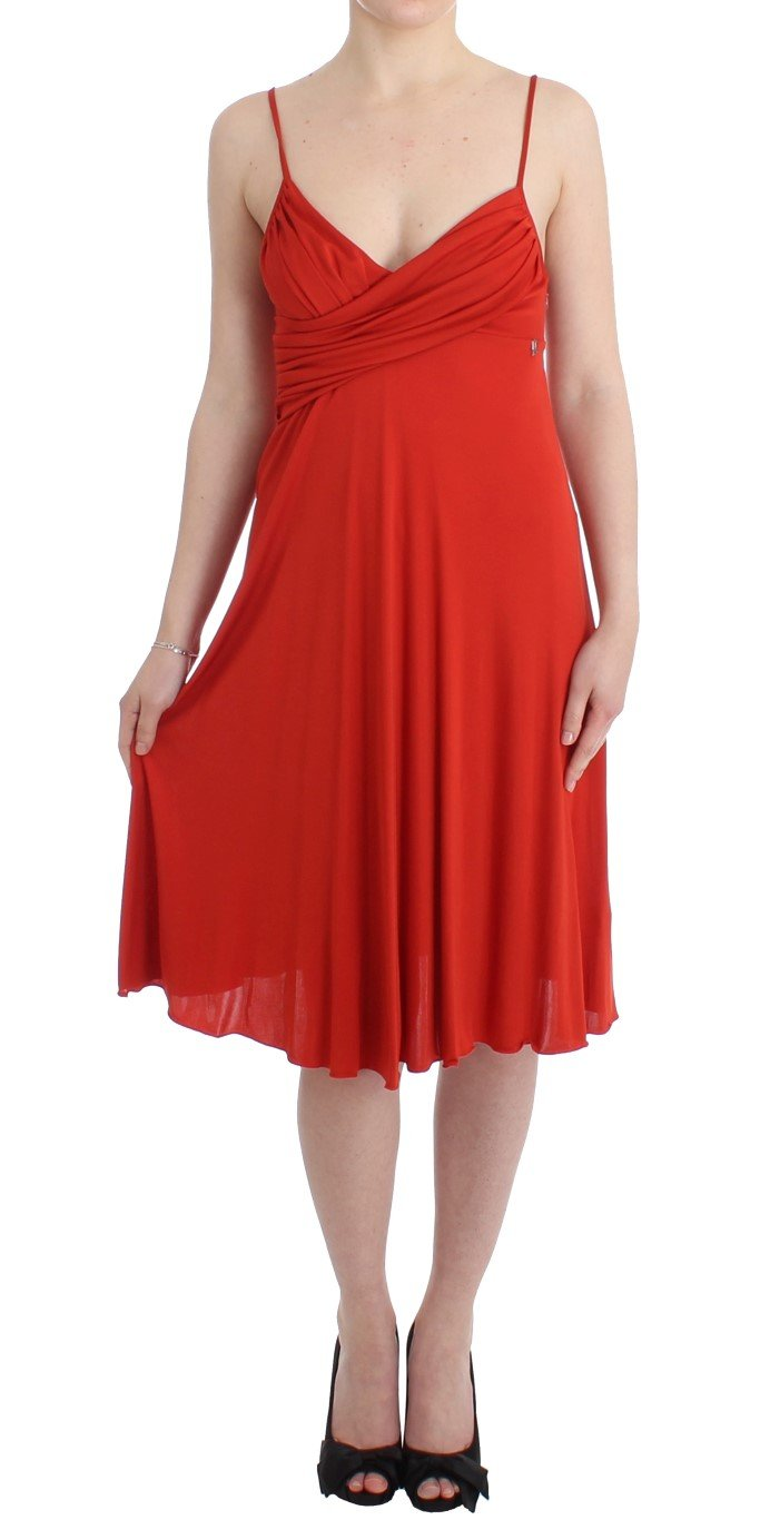 John Galliano Women's A-Line Coctail Dress Red SIG11558 - IT42|M