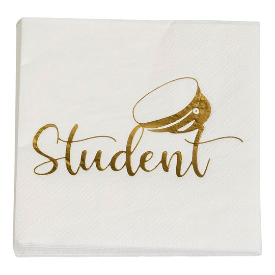 Servetter Student Guld - 16-pack