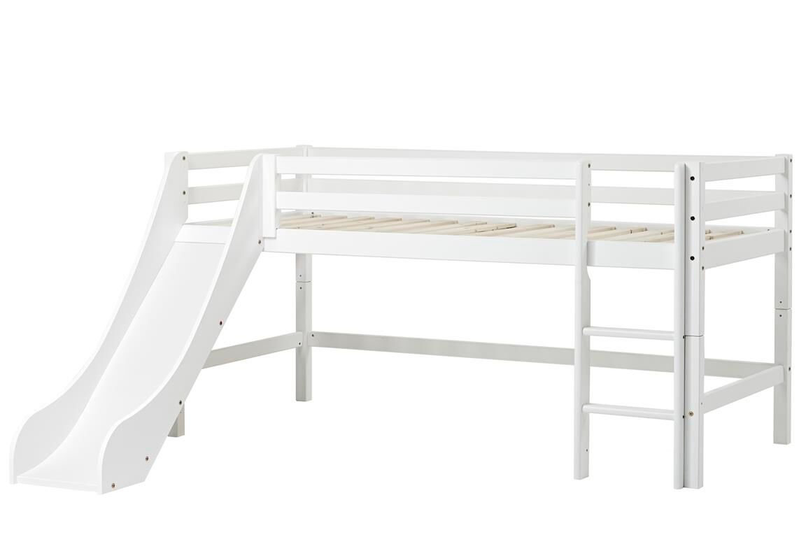 Hoppekids - BASIC Half-high bed with slide 90x200 cm - White