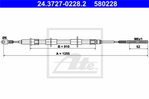 Vaijeri, käsijarru, Takana, BMW Z3 Roadster [E36], 34 40 1 166 054, 34 41 1 163 084