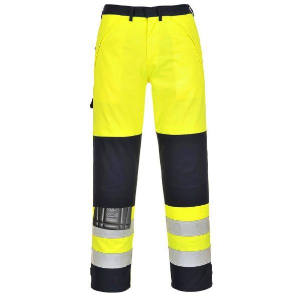 Portwest FR62 Byxa Hi-Vis gul/marinblå, flamskyddad S