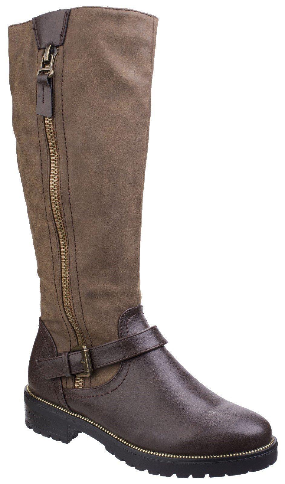 Divaz Women's Manson Tall Boot Brown 25567-42553 - Brown 3